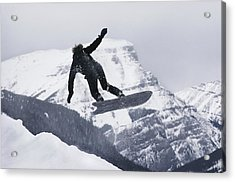 The Snowboard Championships Were Held Acrylic Print by George F. Mobley