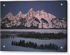 The Snowcapped Grand Tetons Acrylic Print by Dick Durrance Ii