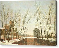 The Snowfall Acrylic Print by Salomon Rombouts