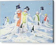 The Snowmen's Party Acrylic Print
