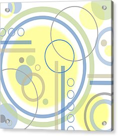 The Softness Of Circles Acrylic Print