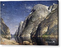 The Sognefjord, Norway, 1885 Acrylic Print by Adelsteen Normann