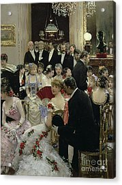 The Soiree Acrylic Print by Jean Beraud