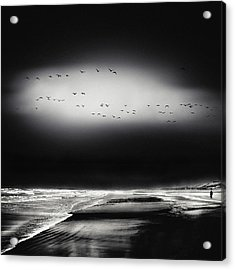 The Song Of The Wet Sands Acrylic Print by Piet Flour
