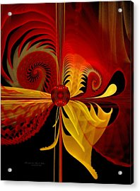 The Soul Sees What Is Within Acrylic Print by Gayle Odsather
