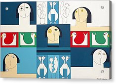 The Sound Of Birds Acrylic Print by Hildegarde Handsaeme