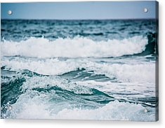 The Sound Of Crashing Waves Acrylic Print by Shelby Young