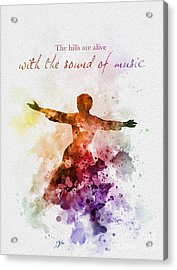 The Sound Of Music Acrylic Print by Rebecca Jenkins