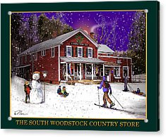 The South Woodstock Country Store Acrylic Print