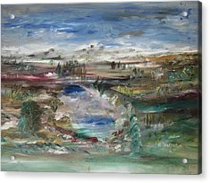 The Southfork Pond Acrylic Print by Edward Wolverton