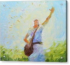 The Sower Acrylic Print by Mike Moyers