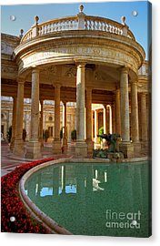Acrylic Print featuring the photograph The Spa At Montecatini Terme by Nigel Fletcher-Jones