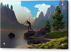 The Spear Fisher Acrylic Print by Daniel Eskridge