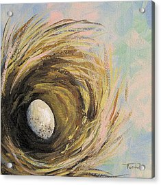 The Speckled Egg Acrylic Print by Torrie Smiley