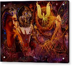 Acrylic Print featuring the painting The Spell Masters by Steve Roberts