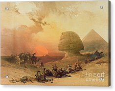The Sphinx At Giza Acrylic Print by David Roberts