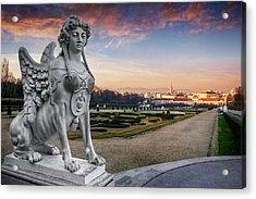 The Sphinx Of The Belvedere Vienna  Acrylic Print
