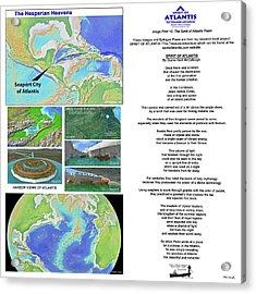 The Spirit Of Atlantis Poem Acrylic Print