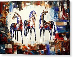 The Spirit Of Texas Horses Acrylic Print