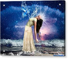 Acrylic Print featuring the digital art The Spirit Of Truth by Dolores Develde