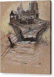 The Splinter Rock Factory Acrylic Print by Ethan Harris