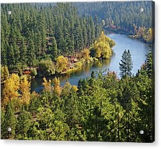 Acrylic Print featuring the photograph The Spokane River  by Ben Upham III