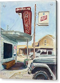 The Sportsman's Drive-in Acrylic Print by Tansill Stough