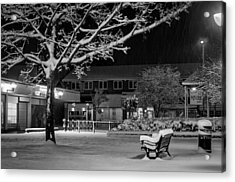 The Square In The Snow Acrylic Print
