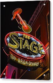 The Stage On Broadway Acrylic Print by Stephen Stookey