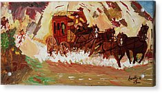 The Stagecoach Acrylic Print by Swabby Soileau