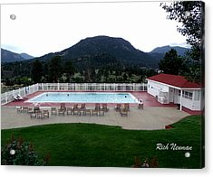 The Stanley Hotel Pool Acrylic Print