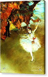 The Star By Edgar Degas Acrylic Print by Pg Reproductions