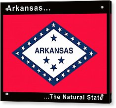 The State Flag Of Arkansas Acrylic Print by Floyd Snyder