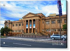 Acrylic Print featuring the photograph The State Library Of New South Wales By Kaye Menner by Kaye Menner