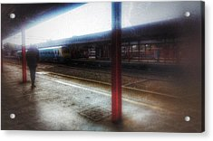 Acrylic Print featuring the photograph The Station by Isabella F Abbie Shores FRSA