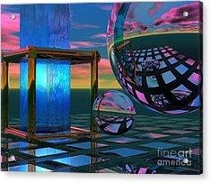 The Station Acrylic Print by Sandra Bauser Digital Art