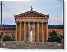The Steps Of The Philadelphia Museum Of Art Acrylic Print by Bill Cannon