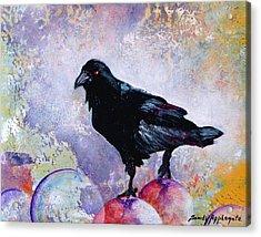 The Stillness Gave No Token Acrylic Print by Sandy Applegate