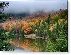 The Stillness Of An Autumn Morning Acrylic Print by Jeff Folger