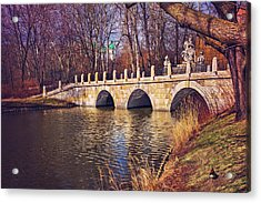 Acrylic Print featuring the photograph The Stone Bridge In Lazienki Park Warsaw  by Carol Japp
