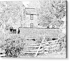 The Stone House At The Oliver Miller Homestead Acrylic Print