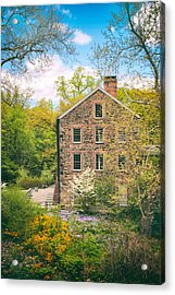 The Stone Mill In Spring Acrylic Print by Jessica Jenney