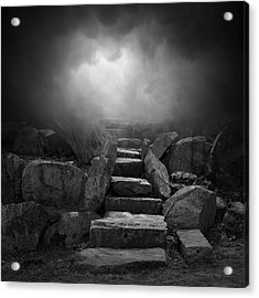 The Stone Steps I Acrylic Print by Dave Gordon