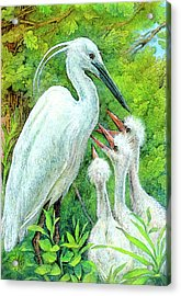 The Stork - A Symbol Of Childbirth Acrylic Print by Natalie Berman