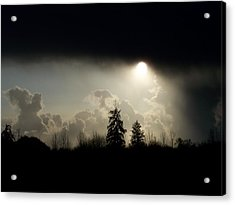 The Storm Looms Acrylic Print by Laurie Kidd