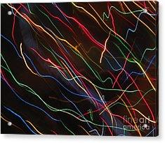Acrylic Print featuring the photograph The Storm Of Falling Stars. Dancing Lights Series by Ausra Huntington nee Paulauskaite