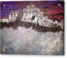 The Stormy Sea Shore Acrylic Print by Roy Penny
