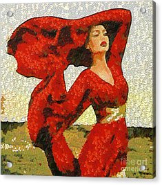 The Story Of A Beautiful Red In The Mix Acrylic Print