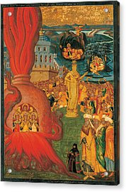 The Story Of Daniel And The Three Youths In The Fiery Furnace Acrylic Print by Konstantinos Adrianoupolitis