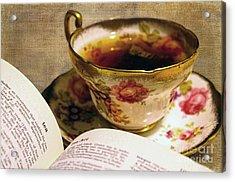 The Story Of Tea Acrylic Print by Nina Silver